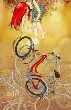 Bikla~Illustrazioni by Victor Hernandez A woman needs a man like a fish needs a bicycle??