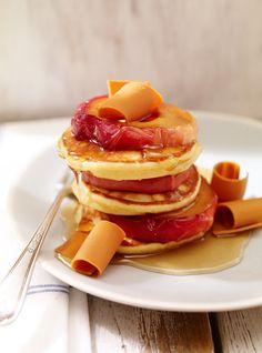 Pancakes au sirop d'érable et au brunost
