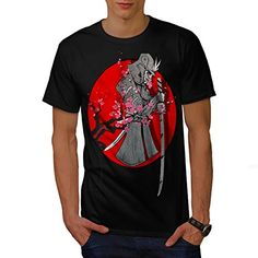 Samurai Blood Spring Japanese Men NEW L Tshirt  Wellcoda -- Click image to review more details.