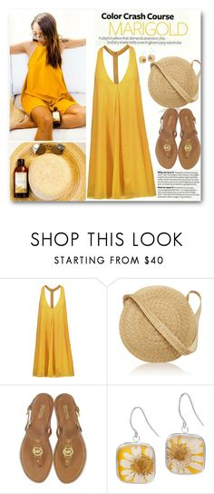 """""""Stay Golden: Dressing in Marigold"""" by brendariley-1 ❤ liked on Polyvore featuring Alice + Olivia, Samuji, Michael Kors and marigold"""