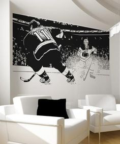 Vinyl Wall Decal Sticker Hockey Game #5088 | Stickerbrand wall art decals, wall graphics and wall murals.