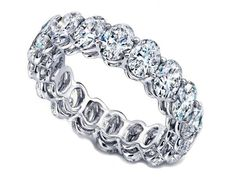 Oval Diamond Eternity Band....matches my engagement  ring <3 anniversary gift????