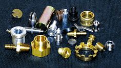 A small sample of the many items we manufacture on our Davenport machinery.  Meaden.com