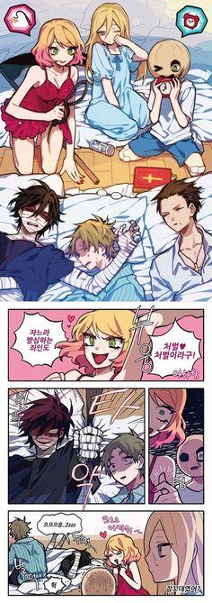 Image about satsuriku no tenshi in sᴀᴛsᴜʀɪᴋᴜ ɴᴏ ᴛᴇɴsʜɪ by ad astra Angel Of Death, Cute Comics, Funny Comics, Anime Love, Anime Guys, Magic Anime, Ange Demon, Satsuriku No Tenshi, Rpg Horror Games