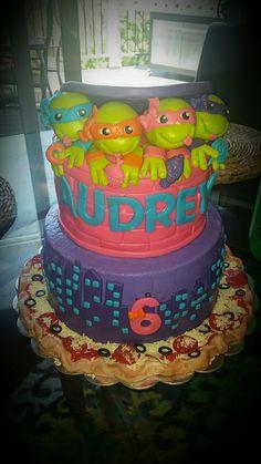 Teenage Mutant Ninja Turtle inspired cake for Girl