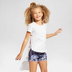 Girls' Hi-Low T-Shirt Art Class - White XL, Girl's