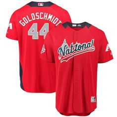 05a909272ea Paul Goldschmidt National League Majestic 2018 MLB All-Star Game Home Run  Derby Player Jersey – Red