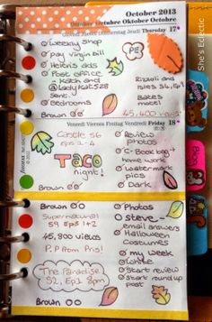 She's Eclectic: My week in my Filofax #42 - close up