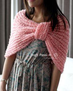 Knit Pink Cowl free pattern