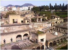 Herculaneum offers far more for disabled visitors to see than the nearby Pompeii ruins. Wheelchair access is provided by a series of ramps. Pompeii Ruins, Pompeii And Herculaneum, Getty Villa, Roman City, Southern Italy, Ancient Ruins, Archaeological Site, Places Ive Been, Places To Visit