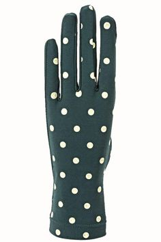 Knit Gloves in color Teal with Ivory Polka dots, these gloves fit your hands like second skin. These gloves not only will keep your hands warm but they also look very stylish with your coat. One size fits all. SANTACANA. Glovers since 1896, they opened their first store in Madrid Calle Carretas, produce the best handmade leather gloves, in the same manner and with the same spirit more than one hundred years ago.   Knit Dots Gloves by Santacana Madrid. Accessories - Hats and Gloves Portland…