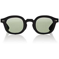 "Movitra Women's ""Movitra 115"" Sunglasses ($320) ❤ liked on Polyvore featuring accessories, eyewear, sunglasses, black, lens glasses, round sunglasses, keyhole sunglasses, uv protection glasses and round keyhole sunglasses"