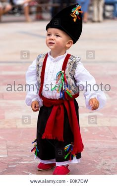 Traditional fiesta at Villaviciosa in Asturias, Northern Spain Stock Photo