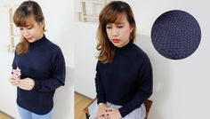 Chunky Knit Highneck Sweater#autumn#outfit#Japan http://www.megapui.com/index.php?id_product=382&controller=product&id_lang=1