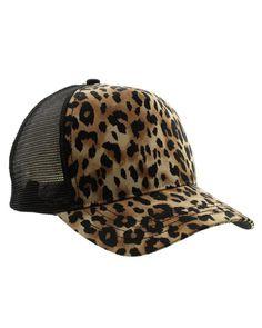 Paul Leopard Print Trucker Hat
