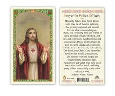 PRAYER POLICE OFFICERS CATHOLIC HOLY CARD