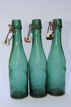 Antique Green Belgian Beer Bottles