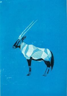 Oryx Blue: illustration by Adam Gale