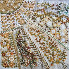 embroidery, crazy quilting