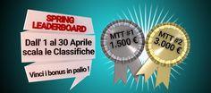 Da oggi al via la Spring Leaderboard Poker Club: ecco tutti i premi