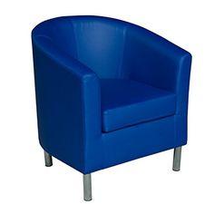 HomCom Modern PU Leather Tub / Barrel Club Arm Seat Chair - Blue HOMCOM http://www.amazon.com/dp/B00M3HTJZ0/ref=cm_sw_r_pi_dp_x3tHwb0FBCAH2