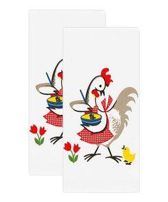 Look at this #zulilyfind! Kitchen Chicken Flour-Sack Dish Towel - Set of Two #zulilyfinds