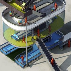 6st Floor by Benoit Challand, via Behance