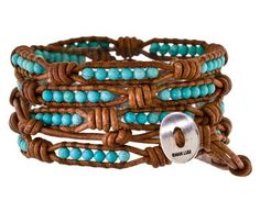 Chan Luu | Turquoise Beaded Wrap Bracelet in Designers Chan Luu Cheap Chic at TWISTonline24 sections of 6 3mm beads