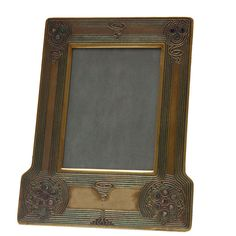 "Art Nouveau Tiffany Studios ""Abalone"" Pattern Picture Frame 