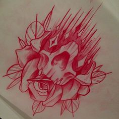Lessons That Will Get You In The arms of The Man You love Skull Rose Tattoos, Flower Tattoos, Body Art Tattoos, Print Tattoos, Tattoo Design Drawings, Skull Tattoo Design, Tattoo Sketches, Tattoo Designs, Totenkopf Tattoos