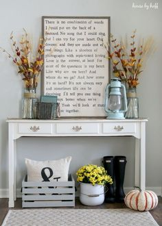 A Fall Vignette - House by Hoff
