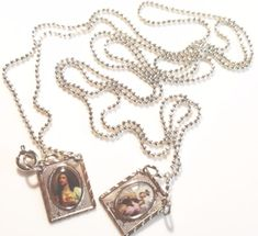 Scapular Medal Our Lady Mount Carmel 925 Silver Plated Prayer Beads Confirmation