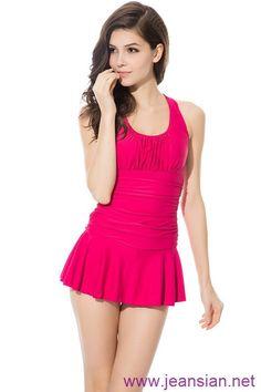 New #Women Fashion #Sexy Tight Piece One Piece #Swimsuit Halter #Beachwear Swimwear