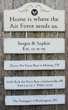 """MILITARY SIGNS (The Wood Chicks)"" Wouldn't this make the perfect Christmas gift for a military family? - MilitaryAvenue.com"