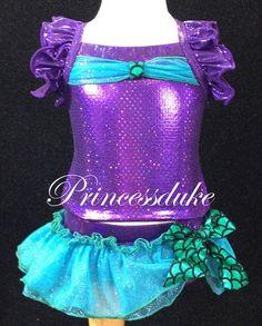 "Princess Ariel the Little Mermaid Inspired Princessduke Pageant ""Tankini"" Bikini"