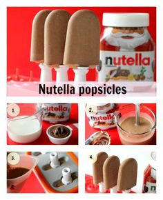 Funny pictures about Tasty Nutella Popsicles. Oh, and cool pics about Tasty Nutella Popsicles. Also, Tasty Nutella Popsicles photos. Köstliche Desserts, Frozen Desserts, Frozen Treats, Dessert Recipes, Nutella Popsicles, Popsicles Diy, Homemade Popsicles, Diy Nutella, Nutella Frosting