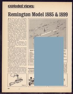 REMINGTON Model 1895, 1899 Rifle Exploded View Parts List 2-pg Assembly Article #Magnum
