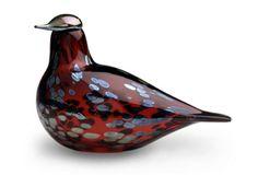 Iittala - Toikka ruby bird In Cranberry Glass Bird Figurine - Red Decorative Objects, Decorative Pillows, Bird Statues, Cranberry Glass, Glass Birds, Nordic Design, Red Design, Glass Art, Ruby Red
