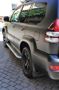 Nice Toyota  Land Cruiser 2017: Toyota Land Cruiser 120 - matte black...wonder if i should do this to my truck... Check more at http://24auto.tk/toyota/toyota-land-cruiser-2017-toyota-land-cruiser-120-matte-black-wonder-if-i-should-do-this-to-my-truck/