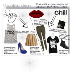 """""""Valentine Vixen (Part II)"""" by boymeetsgirlusa ❤ liked on Polyvore featuring Creatures Of The Wind, Topshop, Boy Meets Girl, Jessica Simpson, women's clothing, women, female, woman, misses and juniors"""