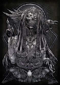 Dark Artwork, Skull Artwork, Metal Artwork, Dark Art Illustrations, Dark Art Drawings, Arte Horror, Horror Art, Satanic Art, Dark Souls Art