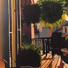 #detail of a #commission in #progress #painting #artist_community #artwork #art #paintingoftheday #paintthenight #neworleans #frenchquarter #sunnyday #balconygarden #balconyview #nola by drewit