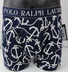 afbfe412bac NWT Polo Ralph Lauren Anchor Knit Boxers Mens L Blue  amp  White Underwear  Allover