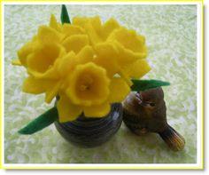 Felt Daffodil Tutorial