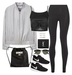 """""""Sem título #4843"""" by fashionnfacts ❤ liked on Polyvore featuring Live the Process, MANGO, Topshop, NIKE, Givenchy, Ray-Ban, Yves Saint Laurent and Boohoo"""