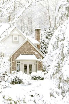 Winter Cottage - I so want to be here with copious amounts of tea and a big stack of good books. :-)
