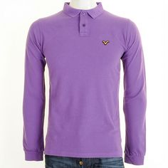 Voi Tim Long Sleeved Polo T Shirt in Dewberry Purple.