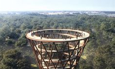 EFFEKT unveiled their designs for the Treetop Experience this year as part of an expansion to Camp Adventure, an existing sports facility with treetop climbing and aerial zip-lines located one hour south of Copenhagen, Denmark.