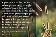 The joy of forgiveness: Grace