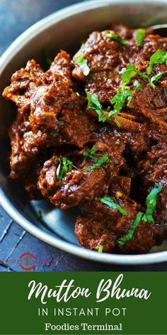 Instant Pot Mutton Bhuna Gosht is extremely addictive & easy peasy to make it in an Instant Pot. Ditch the traditional cooking method & adopt this easy recipe instead. For such easy recipe visit Easy Recipes indian Mutton Bhuna Gosht (T Lamb Recipes, Curry Recipes, Meat Recipes, Chicken Recipes, Cooking Recipes, Cooking Time, Drink Recipes, Recipies, Dinner Recipes